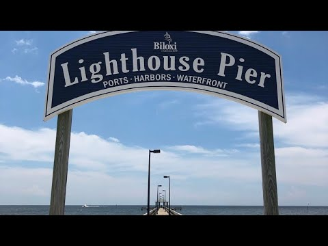 Trout Fishing At Lighthouse Pier In Biloxi Ms Youtube