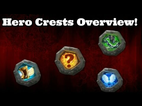 Castle Clash Hero Crests Overview!