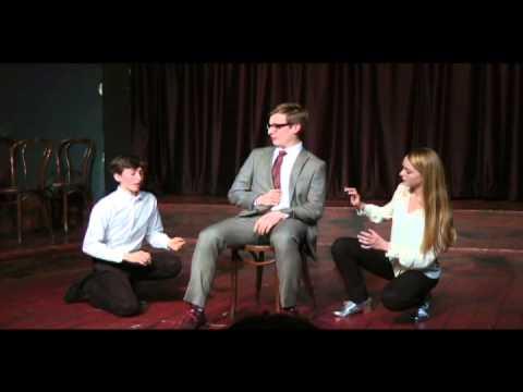 "Second City Teen Ensemble Improv Scene - Stanley Vasaris Balzekas as ""Gramps"""