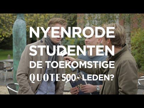 Quote op bezoek bij Nyenrode