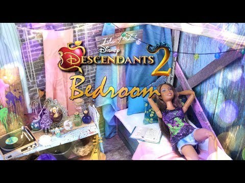 DIY - How to Make: Disney Descendants 2 | BEDROOM| Isle of the Lost | Dollhouse Craft