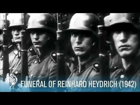 Funeral Of Nazi SS Reinhard Heydrich Aka Butcher Of Prague (1942) | British Pathé