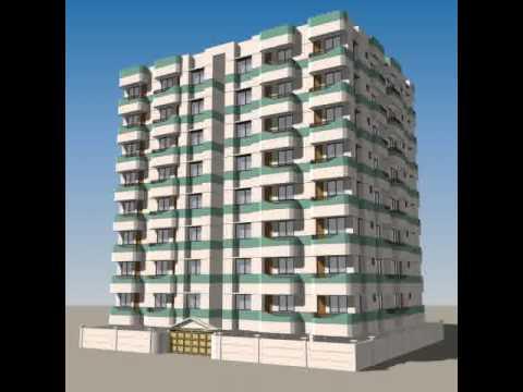 3D Model Of Apartment Building 02 Review