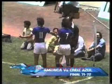 Cruz Azul 4 - América 1. Final 71-72  Cruz Azul Campeón