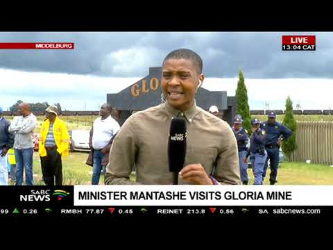 Minister Mantashe Visits Gloria Mine