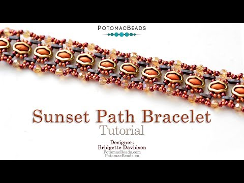 Sunset Path Bracelet - DIY Jewelry Making Tutorial by PotomacBeads