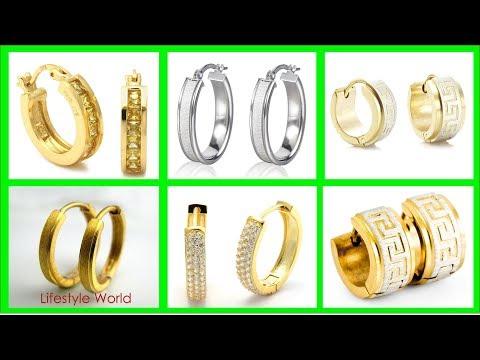 latest-gold-hoop-earrings-for-men-|-gold-jewellery-designs-|-mens-gold-earrings-designs