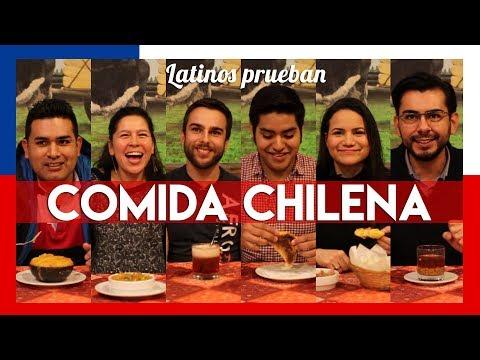 Latinos prueban comida chilena