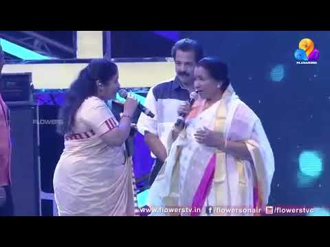 Aasha Bhosle and K S Chitra singing a Hit Tamil song.