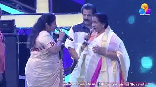 Aasha Bhosle and K S Chitra singing a Hit Tamil song