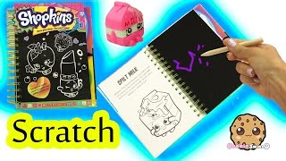 Shopkins Season 1 Sketch Surprise Scratch Drawing Art Book Scratching Cookieswirlc