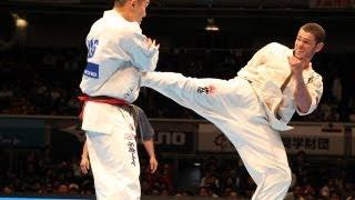 THE 10th WORLD KARATE CHAMPIONSHIP Men 3rd round Kazufumi Shimamoto...