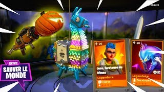 On the Road to the Pumpkin Lance, Lama's Openning Fortnite Birthday Save the World