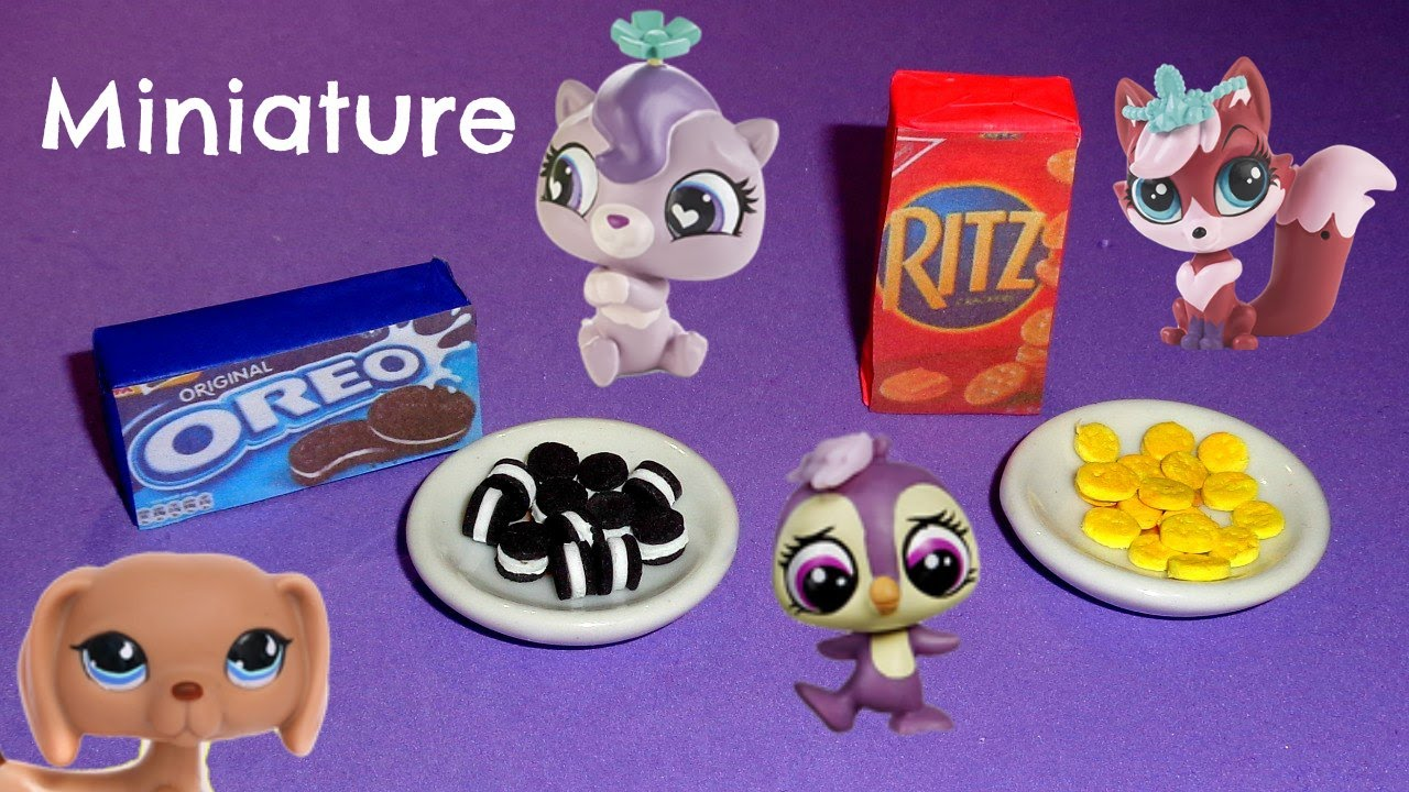 Miniature Oreos & Miniature Ritz Crackers - DIY LPS Crafts & Doll Crafts