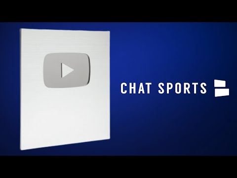 YouTube Creator Silver Award - Unboxing Chat Sports' 100k Subscribers Milestone Award