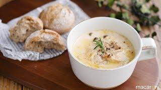 【365日のパンとスープ】たらこときのこのクリームスープ (instagramア...
