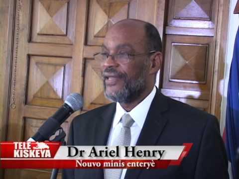 Investiture du ministre de l int rieur dr ariel henry en - Cabinet du ministre de l interieur ...
