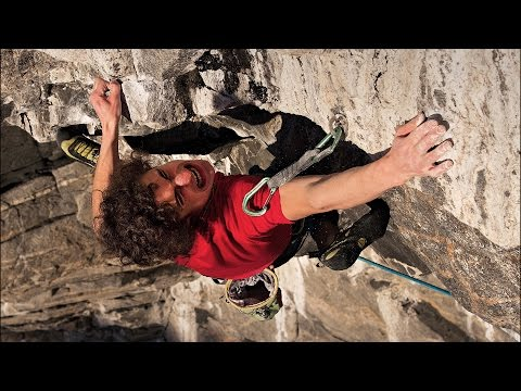 Adam Ondra climbing Change World's first 9b+ route