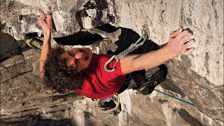 Adam Ondra climbing Change - first 9b+ route
