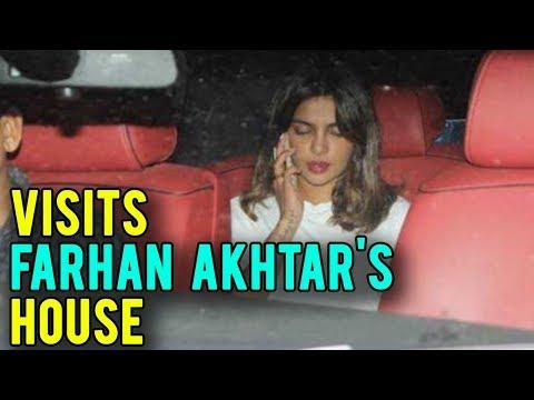 Priyanka Chopra At Farhan Akhtar's House...