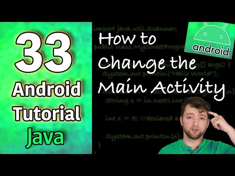 Android App Development Tutorial 33 - How to Change the Main Activity | Java thumbnail