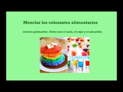 Como hacer colores con colorantes alimentarios Organicos