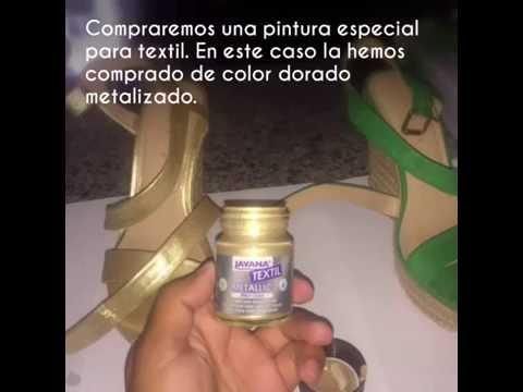 Pintar Y Color ZapatosCambiar ViejosDorado Zapatos Como Reutilizar IWDHe9E2Y