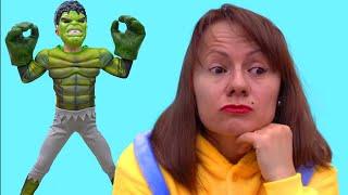 Ce i a facut Hulk mamei ? Sketch | Video pentru copii