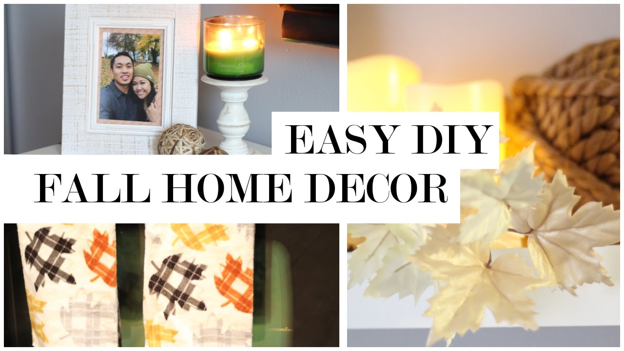 Easy Fall Decor DIY and Transformation - Fall Home Decor Ideas - YouTube