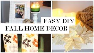 Easy Fall Decor DIY and Transformation - Fall Home Decor Ideas