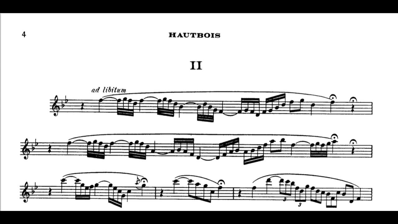 Oboe Sonata in D major, op  166 (Saint Saëns)