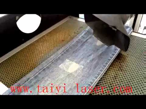 Jeans Laser printing machine from China Laser factory Taiyi Brand