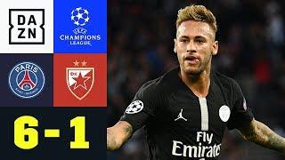 Marsmensch Neymar verzaubert Paris: PSG - Roter Stern 6:1 | UEFA CL | DAZN Highlights