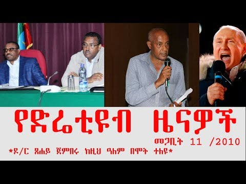 ETHIOPIA - የድሬቲዩብ ዜናዎች መጋቢት 11 /2010 - DireTube News