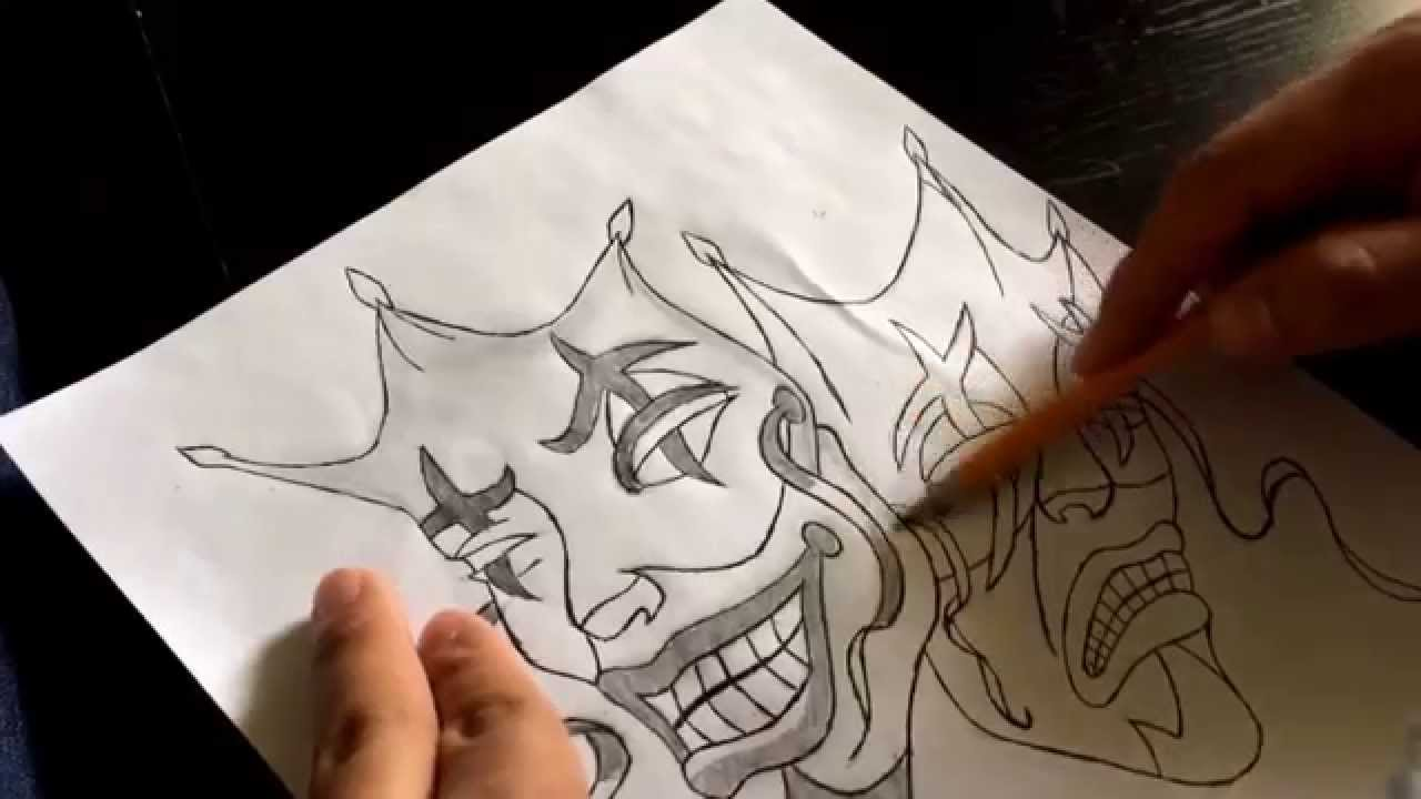 How To Draw Smile Now Cry Later Jester Masks Part 3 Youtube