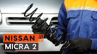 rear and front Coil springs installation NISSAN MICRA: video manual