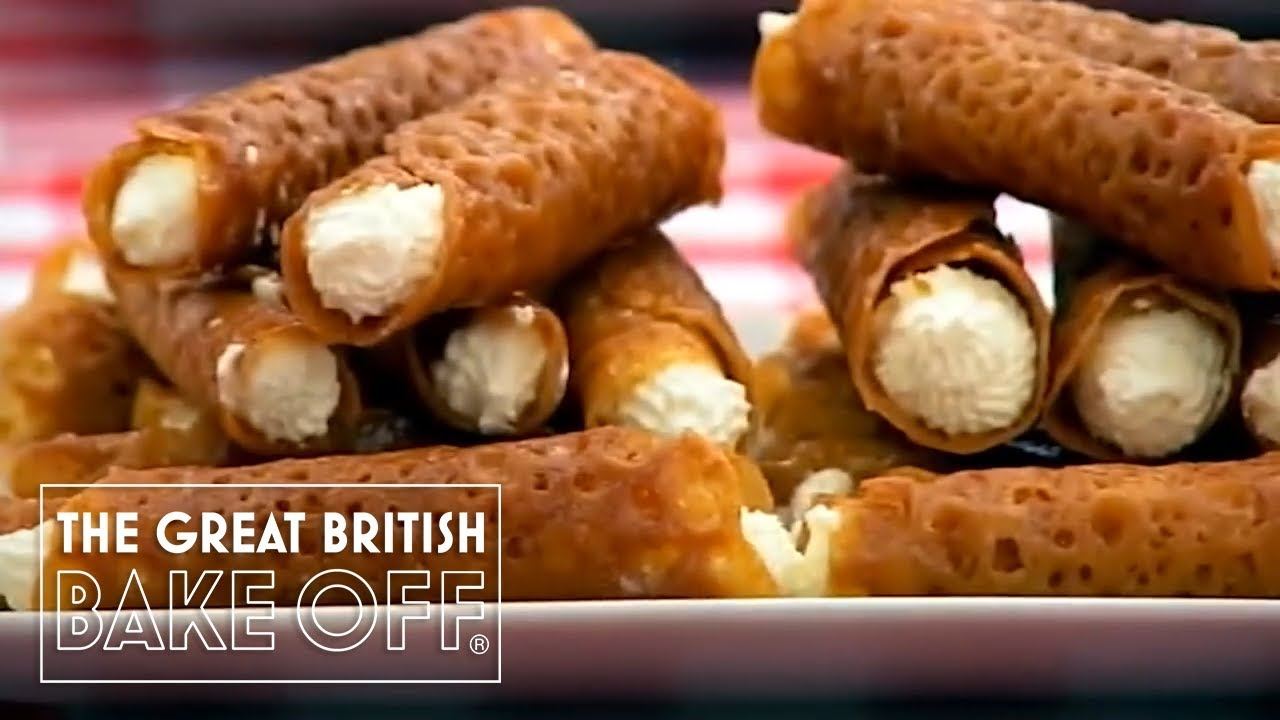 Brandy snaps need to snap | The Great British Bake Off