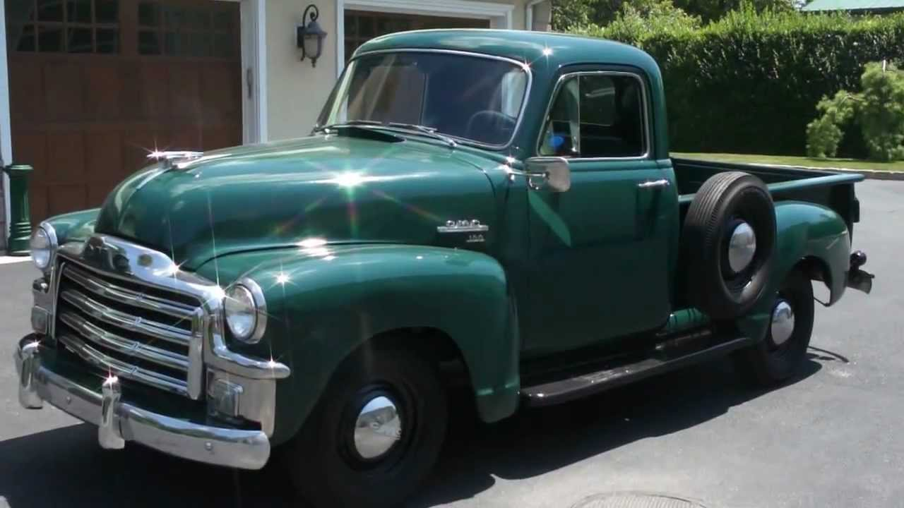 1954 Gmc 100 Pick Up For Extreamly Nice Shape Straight 6 3 On The Tree You