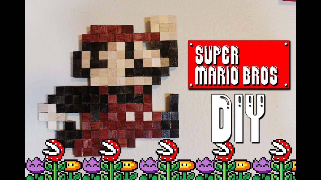Super Mario Wall Art - DIY Geeky Goodies - YouTube