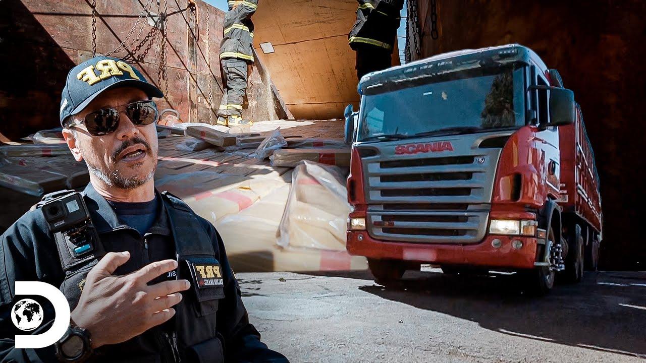 Caminhão com uma tonelada de maconha oculta | Operação Fronteira: América do Sul | Discovery Brasil