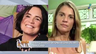 Tássia Camargo chama Regina Duarte de canastrona