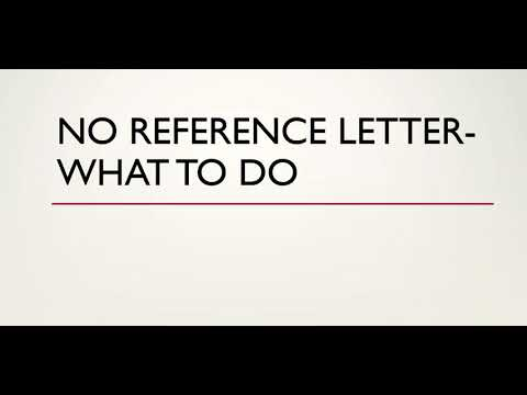 No Reference Letter  Express Entry  What To Do - Canada Immigration