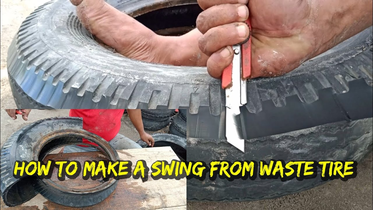 How to make a swing from waste tire