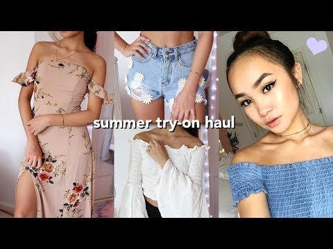 HUGE Try-On Summer Clothing Haul: fashion nova, shein, zara, f21 +more☺︎