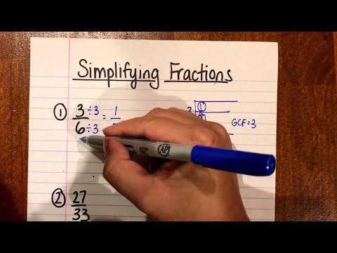 Simplifying Fractions (Using Greatest Common Factor) - YouTube