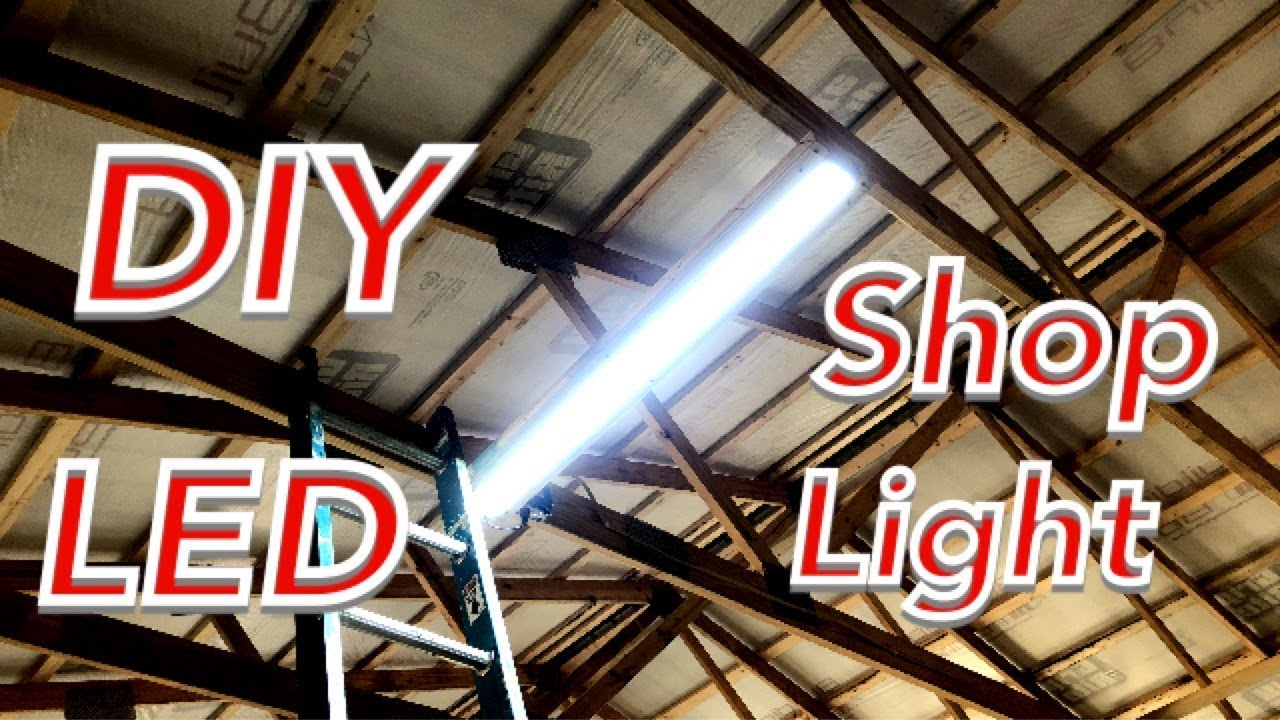 Make Your Own Led Shop Lights Youtube