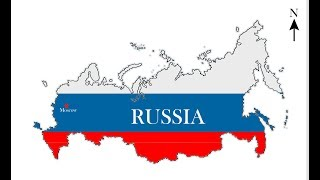 Map of Russia. Как нарисовать карту России.