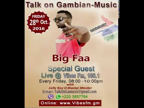 Big Faa warns the entire GambianPresenters Talk On Gambian music Radio Show