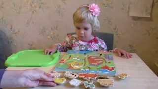 Домашние животные и их детеныши. Развивающая игра для детей от 1 года (для самых маленьких).