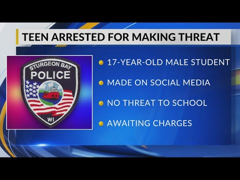 """Sturgeon Bay High School student arrested after making """"non-specific threat"""""""